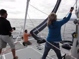 Training the crew of Bonobo during ARC 2010